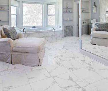 Statuario Marble Floor Tiles